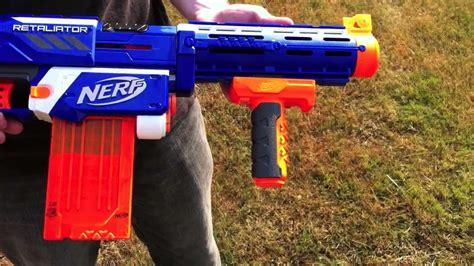 nerf n strike elite retaliator range test stock