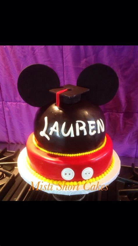 mickey mouse grad cake disney graduation cake