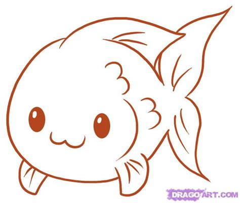 draw  fish step  step fish animals