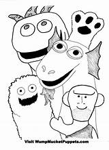 Puppet Coloring Pages Puppets Master Mucket Wump Colouring Getcolorings Printable Hand Getdrawings sketch template