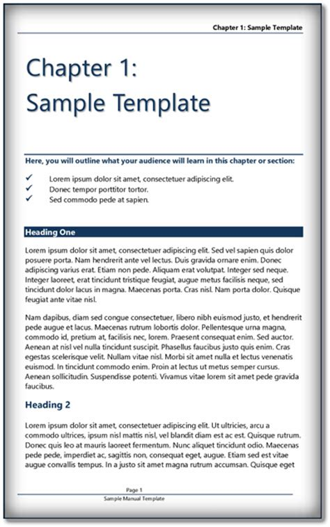 book template ms word  format