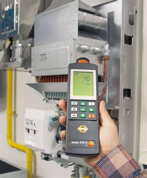 testo me testo 315 2 co warning measuring instrument gas flue