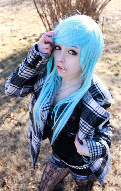 The Girl With The Blue Hair By Savannahheartilly On Deviantart