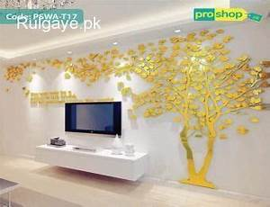 3d Mirror Creative Lovers Tree Acrylic Wall Stickers Tv