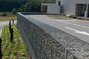 Mur De Soutenement En Gabion : gabions pour murs de sout nement construction g nie ~ Melissatoandfro.com Idées de Décoration