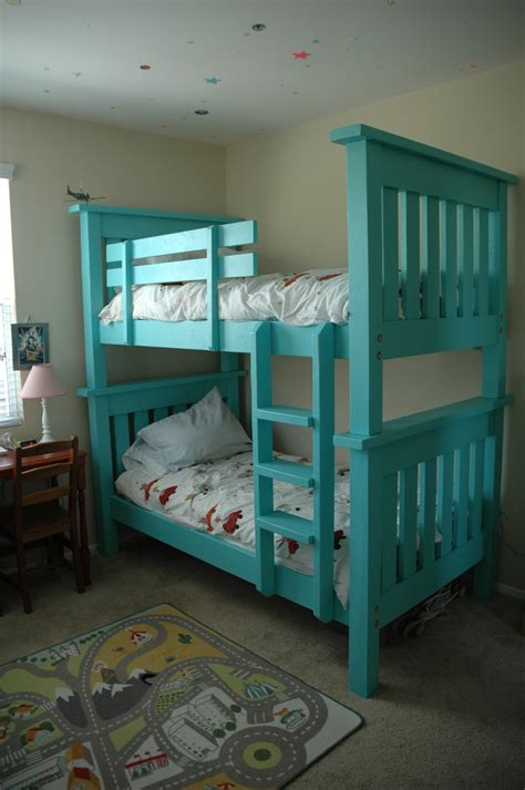 ana white bunk bed  simple bed modified diy projects