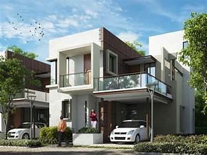 Contemporary, Home, Design, In, Kerala