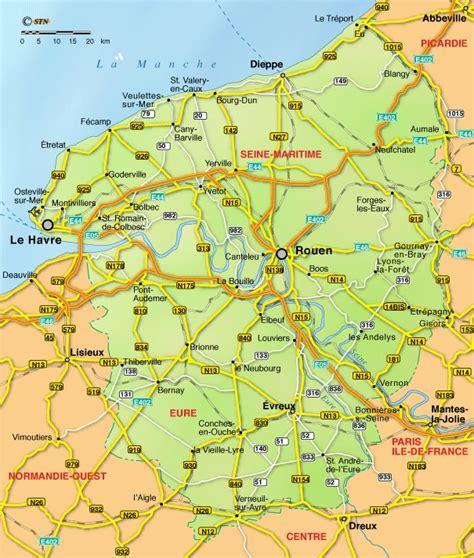 Carte Haute Normandie by Haute Normandie Carte G 233 Ographique Voyages Cartes