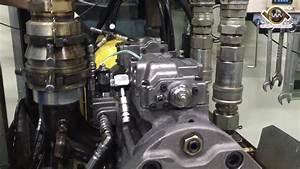 Excavator Main Hydraulic Pump Receiving Pressure  U0026 Flow