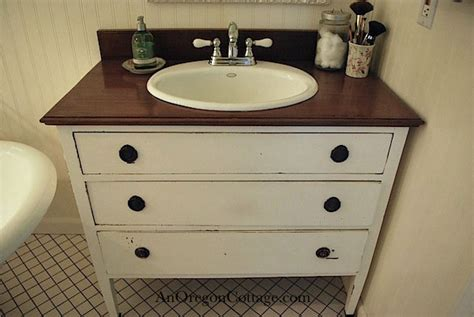 turn  thrift store dresser   bathroom vanity