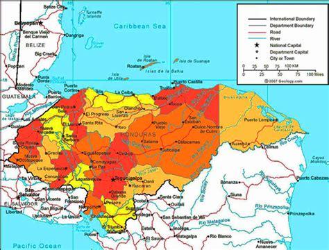 bid honduras most detailed and largest honduras map and flag travel