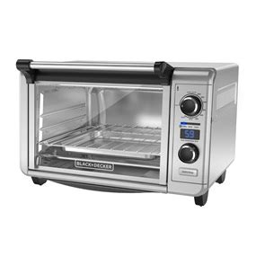 black decker stainless steel convection 6 slice toaster oven 6 slice digital convection countertop oven toaster oven