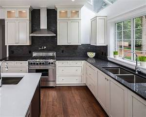 Kitchen ideas white cabinets black countertop kitchen for Kitchen designs with white cabinets and black countertops