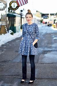 Flared dress over jeans - One Brass Fox