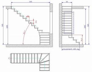 Plan d escalier calculer un escalier quart tournant le for Plan de maison logiciel 8 escalier demi tournant