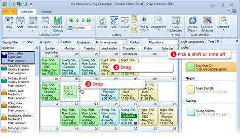 employee scheduling software snap schedule product