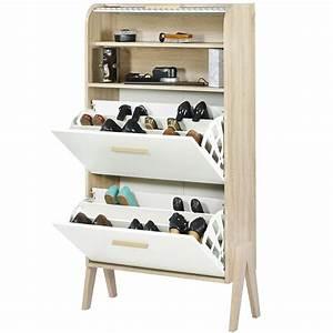 Meuble A Chaussure Scandinave : meuble chaussure scandinave sofag ~ Teatrodelosmanantiales.com Idées de Décoration