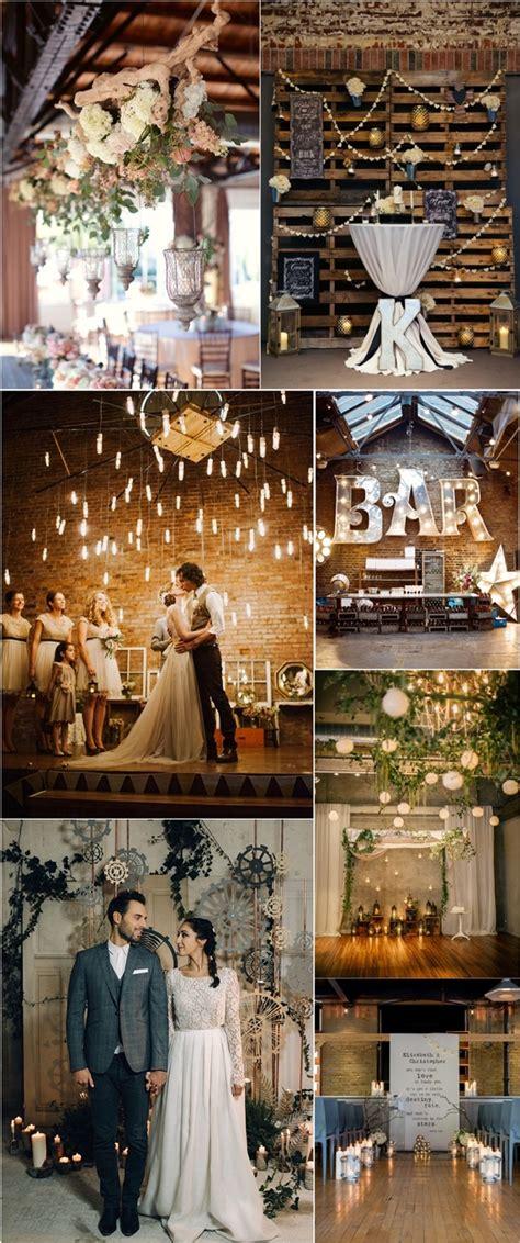 rustic industrial wedding ceremony decor ideas deer