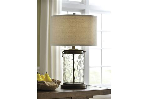 tailynn glass table lamp  clearbronze finish  ashley