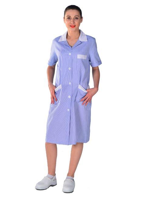 blouse femme de chambre blouse de travail femme de ménage bleue blouse femme de