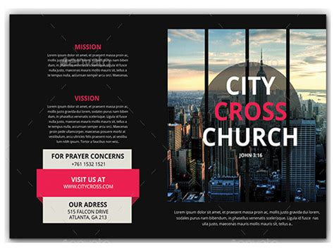 tri fold brochure template template business