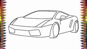 Car Drawing Step By Step How To Draw A Car Lamborghini ...