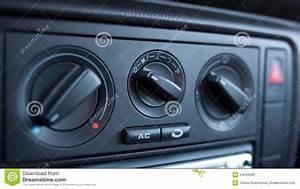 Car Climate Control Stock Photo