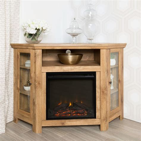 tv cabinet with fireplace walker edison furniture company barnwood place 6412