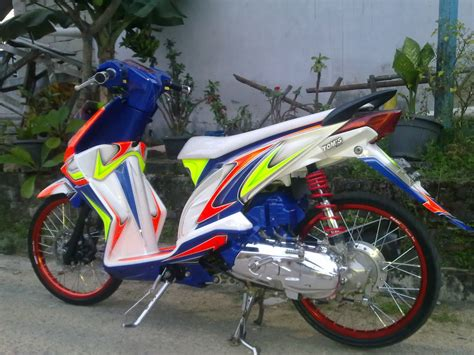 Modifikasi Motor Matic Beat by Top Modifikasi Motor Beat Warna Merah Terbaru Modifikasi