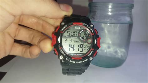 water resistant 10 bar q q m146j003y test the water