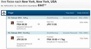 Expedia Rechnung : mit singapore airlines und dem a380 f r 447 nach new york ~ Themetempest.com Abrechnung