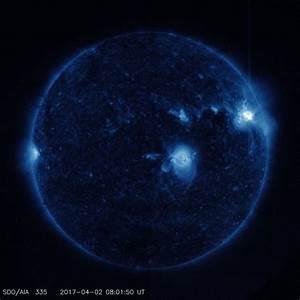Solar Dynamics Observatory captured trio of solar flares ...