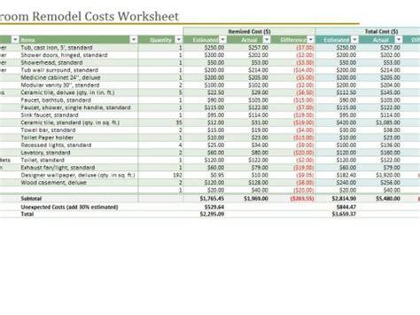 Bathroom Renovation Material List by Bathroom Remodel Checklist Bathroom Remodel Cost