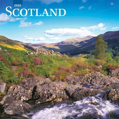 scotland monthly square wall calendar uk united