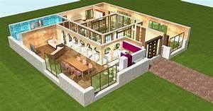 Plan 3d En Ligne : plan de maison plain pied 3d ~ Dailycaller-alerts.com Idées de Décoration
