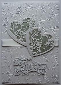 wedding card with spellbinders die embossing folder With wedding invitation embossing folder