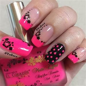 Pink And Black Nail Art | www.pixshark.com - Images ...