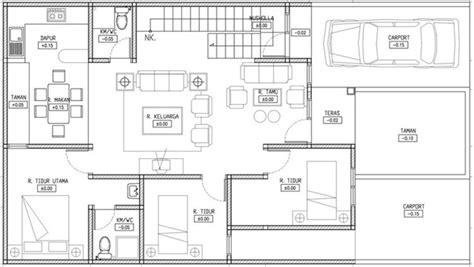 desain  gambar denah rumah mewah minimalis    lantai