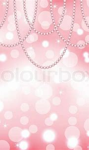 Cute pink background with pearls | Stock Vector | Colourbox