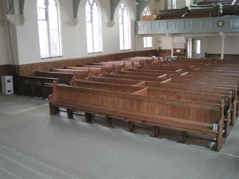 Antique Victorian Solid Wood Church Pew, Seats & Benches