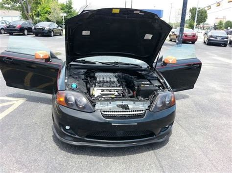 amazing hyundai car sell used amazing hyundai tiburon gt 2005 black shadow in