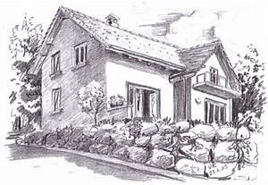 Architektur Haus Zeichnen : architektur land leben ursula knoblauch glasmalerei kunstglaserei ~ Markanthonyermac.com Haus und Dekorationen