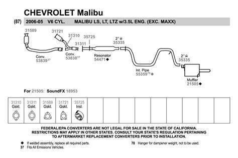 Chevy Malibu Exhaust Diagram Wiring
