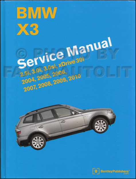 service and repair manuals 2004 bmw 3 series on board diagnostic system 2004 2010 bmw x3 series bentley repair shop manual