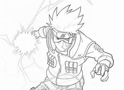 Kakashi Naruto Coloring Mewarnai Gambar Hatake Chidori