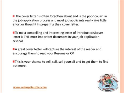 application writing importance of cover letter