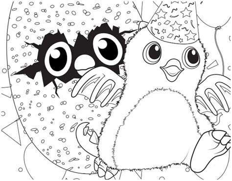 hatchy hatchimals logo coloring pages  printable sketch coloring page