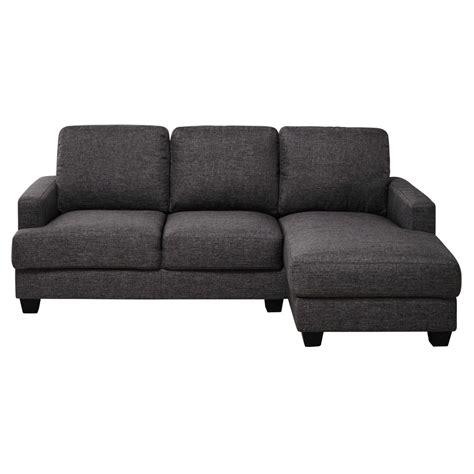 canapé tissu gris chiné canapé d 39 angle droit 3 4 places en tissu gris chiné