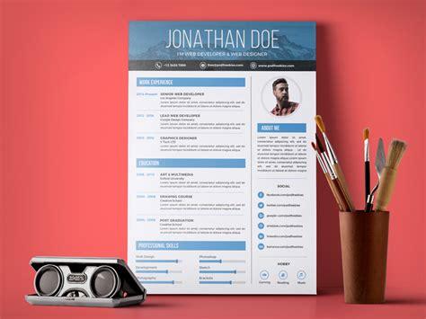 simple resume design template  web graphic
