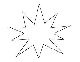 starburst pattern  images templates printable